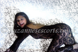 Indian girl in lace one piece suit