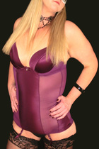 Purple basque and stockings