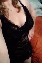BBW in black lace dress