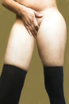 Black stockings Naked Female