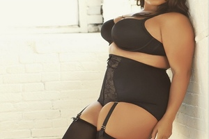 Black suspenders and underwear